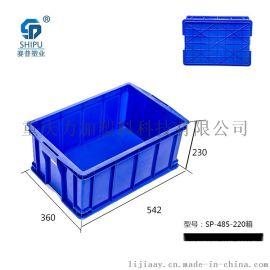 重庆哪里有 PP 蓝色 耐热耐腐蚀 320大耳朵 塑料周转箱 批发