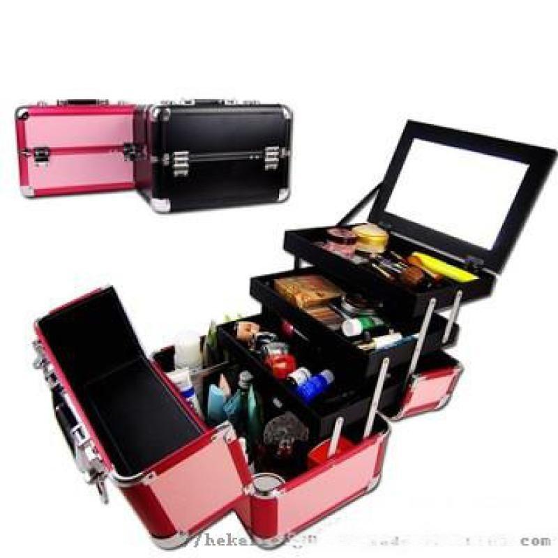手提精美化妆箱 美容工具收纳铝箱