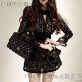 寶萊國際品牌女裝折扣店加盟哪個好折扣女裝 杭州哪余有尾貨庫存批發金色大衣