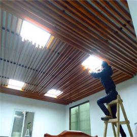 医疗中心型材铝方管 文体馆仿木纹型材铝方管
