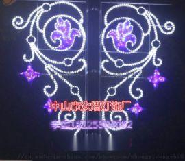 节日灯杆造型灯新款双面灯笼led造型灯