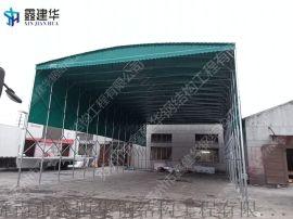 崂山区PVC阻燃布手推拉篷工地伸缩遮阳棚产品定制