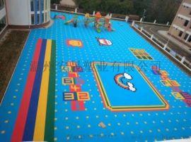 篮球场悬浮地板运动场地耐磨悬浮地板幼儿园防滑地板