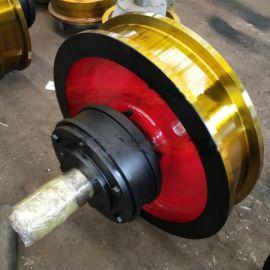 厂家直销国标行车轮 锻钢制造起重机车轮组铸钢材质