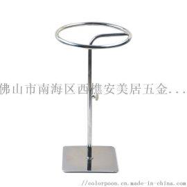 金属食品夹支架 可调节高度圆形架子