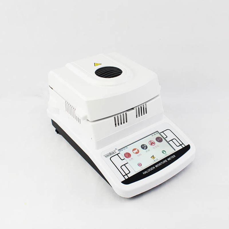 厂家批发卤素灯加热烘干法水分仪MS105 临沂氧化铝粉铁粉湿度仪