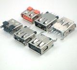 深圳連接器廠家大量供應USB立插母座USB 2.0接插件短體長體連接器