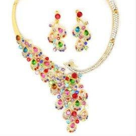 新娘套链爪链饰品婚庆用品耳环项链高品质