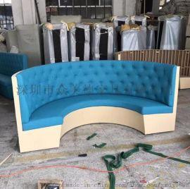 深圳餐饮沙发卡位定做工厂,客厅会所沙发翻新真皮沙发