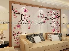 湖南背景墙系列 电视卧室客厅背景墙 装饰主题背景 精雕瓷砖背景