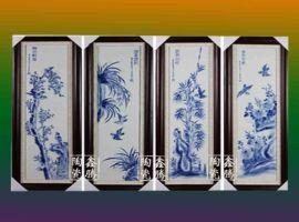 景德镇陶瓷 鑫腾陶瓷 定做陶瓷瓷板画直销