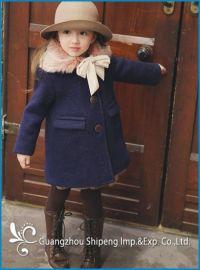 SPGC-002 女童欧美风毛呢外套毛领加厚中长款冬季