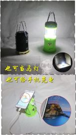 新款马灯LED太阳能充电灯露营灯野营灯大功率户外手提灯伸缩应急灯