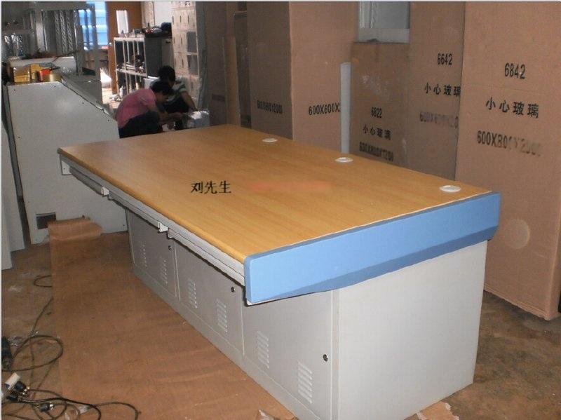 立騰機櫃3位包邊平面操作檯(加木面)