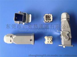 热流道重载连接器, 航空插座, 热流道模具接口