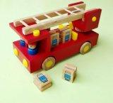 兒童玩具  木質玩具 消防車