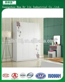 现代简约式卧房白色4门衣柜