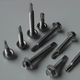 430不锈钢六角华司自钻螺丝|不锈钢304六角自钻螺丝