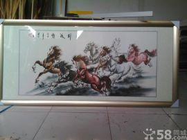深圳市南山哪有字画装裱做框的工厂 **红木圆角画框厂
