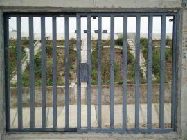 鐵路施工防护栅栏门 水泥立柱防护栅栏门
