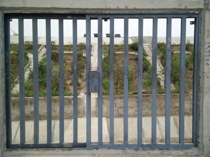 鐵路施工防護柵欄門 水泥立柱防護柵欄門