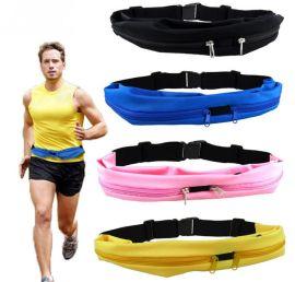 休閒戶外運動跑步健身多功能防水手機腰包 萊卡彈力貼身隱形腰帶