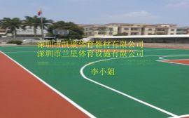 深圳硅PU篮球场 丙稀酸球场价格 篮球场施工建造