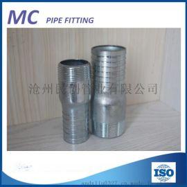 水暖管件碳钢镀锌变径软管接头一头马牙一头软管接头支持定做
