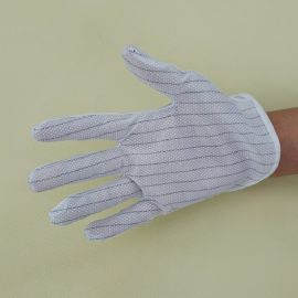 深圳防静电手套厂家 双面条纹点胶防静电手套