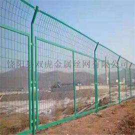 上饶双边丝护栏网现货框架护栏网库存养殖圈地围栏