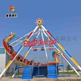 河南廠家生產海盜船 景區遊樂場遊樂設備現場圖片