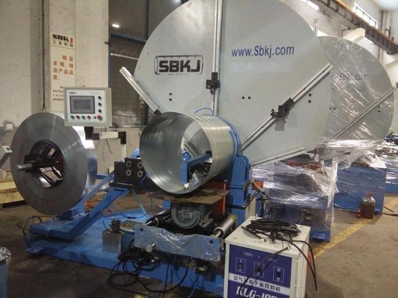 三本經濟型固定模、鋼帶模一體螺旋風管機SBTF-1500B