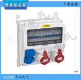 厂家直销多功能壁挂式2组检修电源 塑料防水尘腐插座插头配电箱