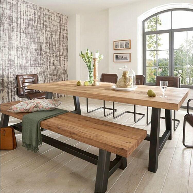 简易办公桌 实木会议桌 美式工业风格电脑桌 凯隆厂家直销批发实惠
