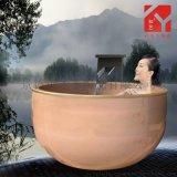 景德镇泡澡缸厂家 定做口径一米温泉泡澡缸 陶瓷洗浴缸 澡堂大缸