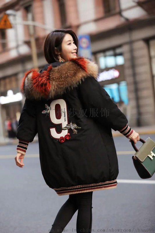 **17新款雪罗拉&西树影黛羽绒服女装90%白鸭绒