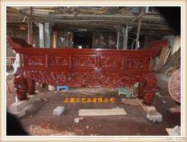 正圓zy1112木雕供桌雕刻製作 木雕供桌生產廠家