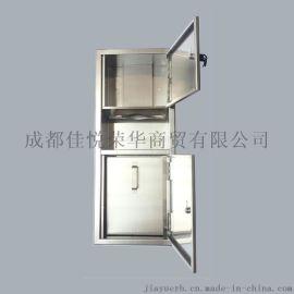 一体式组合柜二合一擦手纸箱入墙式安装,不锈钢