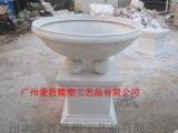 廣州豪晉 玻璃鋼人造仿砂巖花盆雕塑