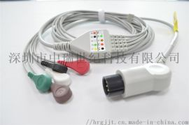 远程移动Holter动态心电线 动态系统遥测3/5/7/10导联线 兼容康泰遥测盒