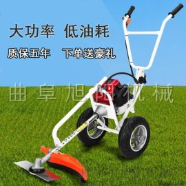 廠家直銷手推式汽油動力割草機兩輪割灌機