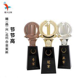 节节高水晶奖杯 定制合金金属奖杯奖牌 比赛奖杯