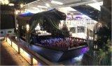楚歌木船定制5米绿茶餐饮船乌篷船餐厅