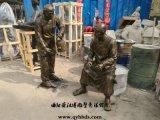 玻璃钢人物雕塑定制厂家,城市园林广场雕塑