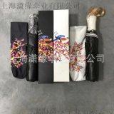 定制带礼盒包装折叠伞、高端纸盒EVA盒子伞口袋伞
