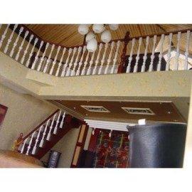 欧榉楼梯实木护栏
