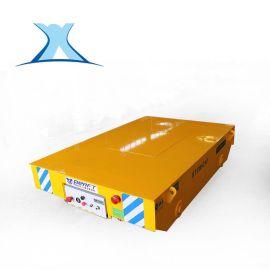 20吨蓄电池电动无轨平车 转向式渣包平板车优势