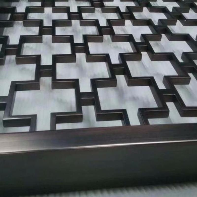 厂家不锈钢精品屏风,发黑拉丝青古铜红古铜不锈钢花格定制