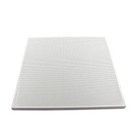 工程冲孔铝天花厂家热销防火耐磨吸音吊顶材料铝扣板