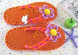 婴幼儿童早教幼儿园人字夹脚手工拖鞋材料包MDF-18002